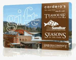 Cardero's Standard Gift Card (Physical Delivery)