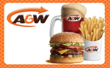 A&W Standard Gift Card (Physical Delivery)