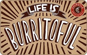 Chipotle Mexican Grill Standard Gift Card (Physical Delivery)