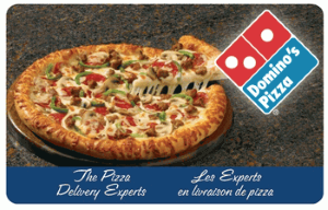 Domino's Pizza Standard Gift Card (Physical Delivery)