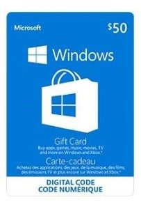 Microsoft Windows Store Standard Gift Card (Physical Delivery)
