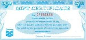 Chevron Standard Gift Certificate (Physical Delivery)