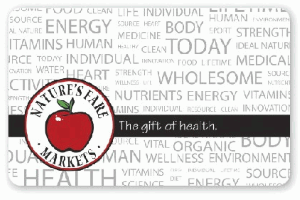 Nature's Fare Markets Standard Gift Card (Physical Delivery)