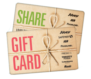 Sobeys Standard Gift Card (Physical Delivery)