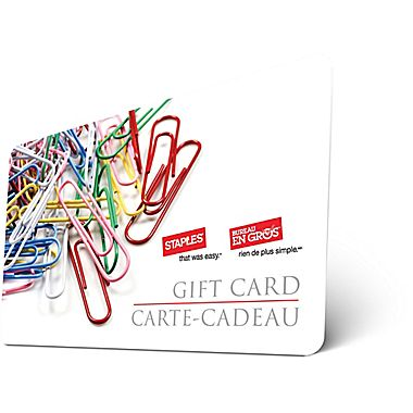Staples Standard Gift Card (Physical Delivery)