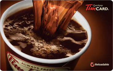 Tim Hortons Online Gift Card (Electronic Delivery)