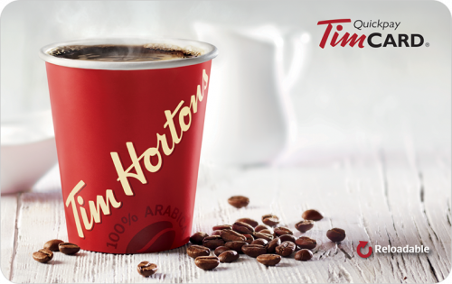 Tim Hortons Standard Gift Card (Physical Delivery)