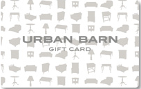 Urban Barn Standard Gift Card (Physical Delivery)