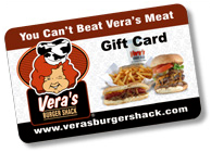 Vera's Burgers Standard Gift Card (Physical Delivery)