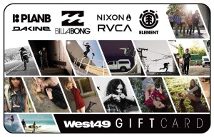 West 49 Standard Gift Card (Physical Delivery)