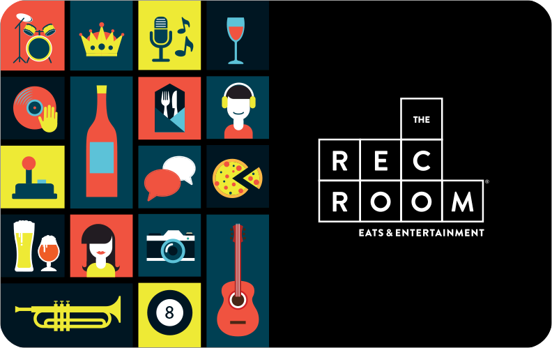 The Rec Room Online Gift Card Electronic Delivery