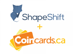 Shapeshift on Coincards.ca